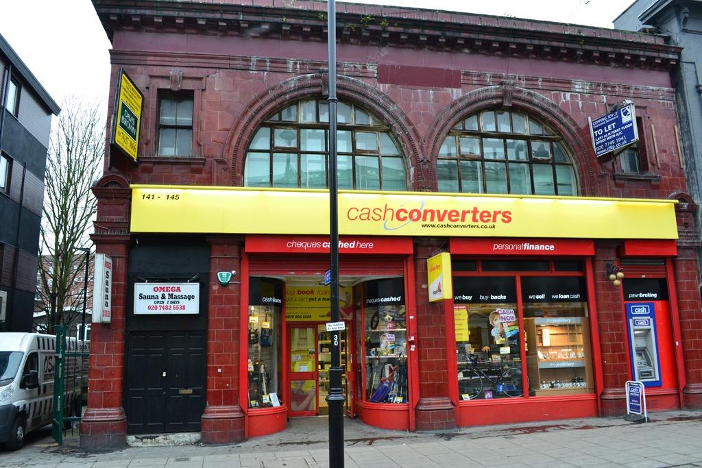 Cash Converters, aka Kentish Town South tube station. Photo: Stephen Emms