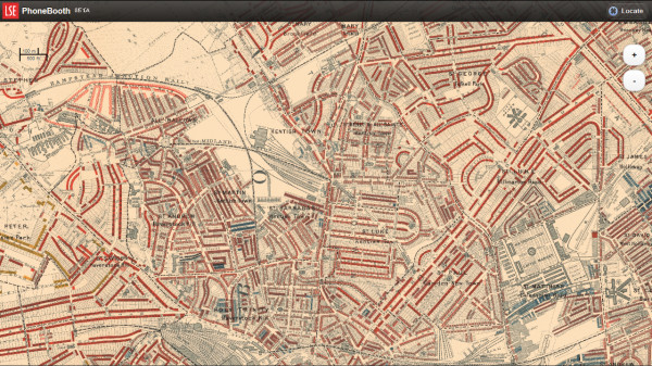 Booth's London Map, focused on Kentish Town