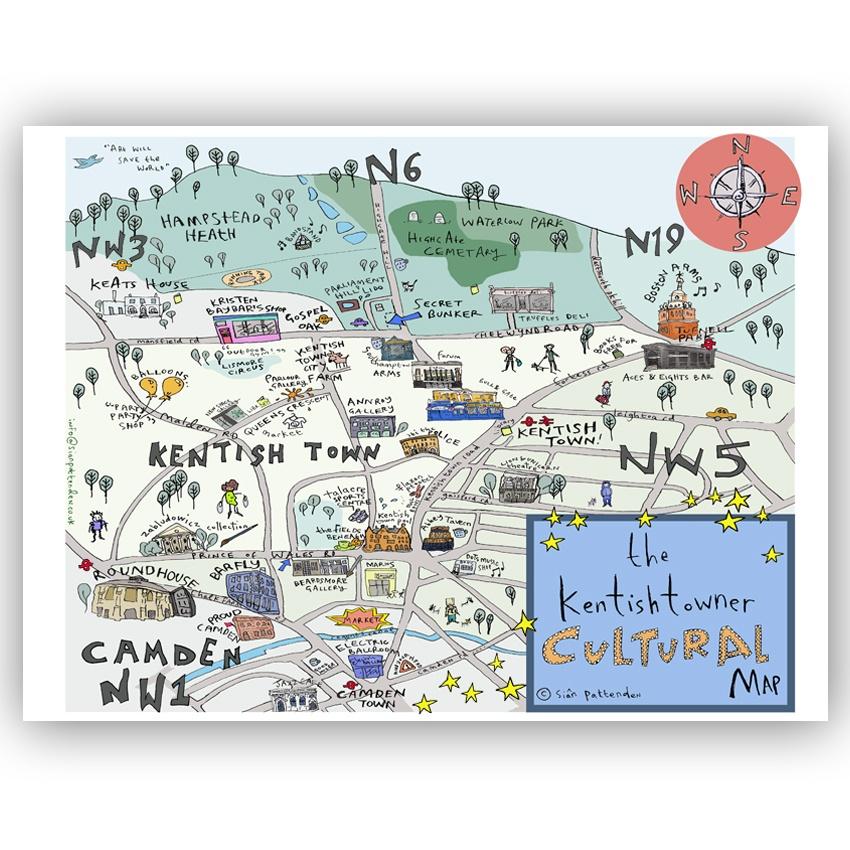 Kentishtowner Cultural Map by Sian Pattenden.