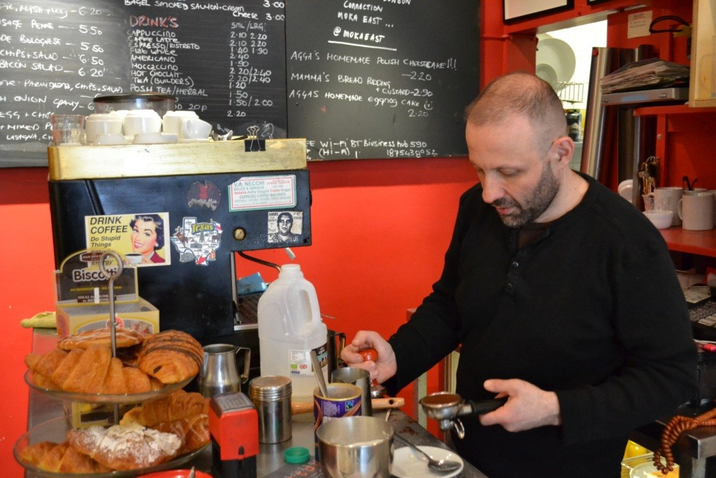 Serving up good banter with his beans: Mario Sagesse