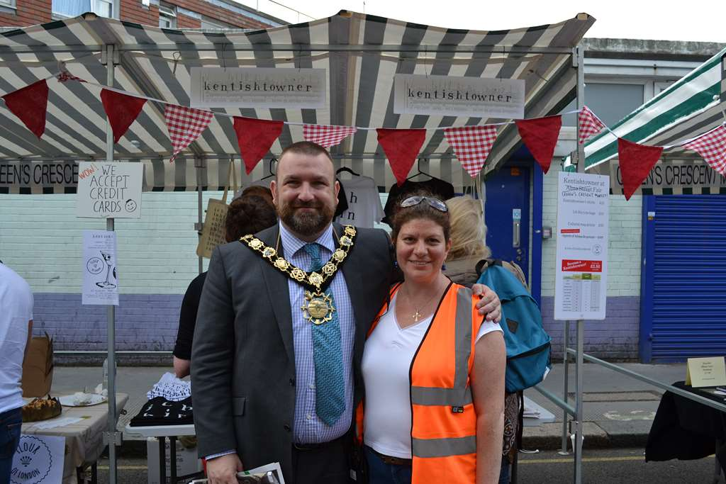 In happier times: Jonathan Simpson and former QC Market Manager Sima Awad pose at the annual festival. Simpson has recently admitted that there's no point pouring money into a 'sinking ship.' Photo: SE