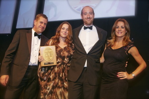 Winning the Best Pub Award 2014: The Grafton's Joel & Susie