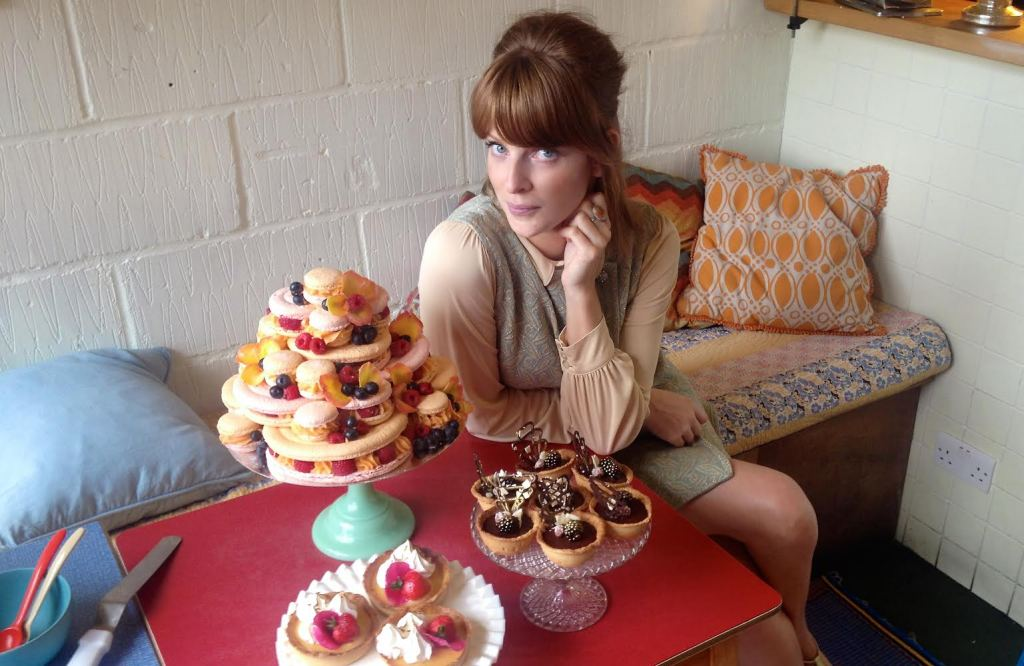 Fast forward to 2015: Clare poses with something she baked earlier. Photo: CZ