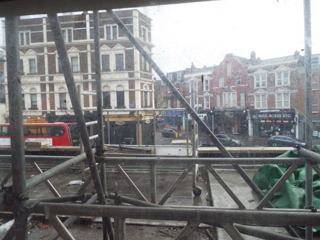 Historic buildings such as the former Fortess Road Post Office can be admired - once the scaffolding has gone