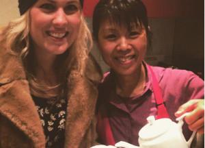 With Miss Bun. Photo: