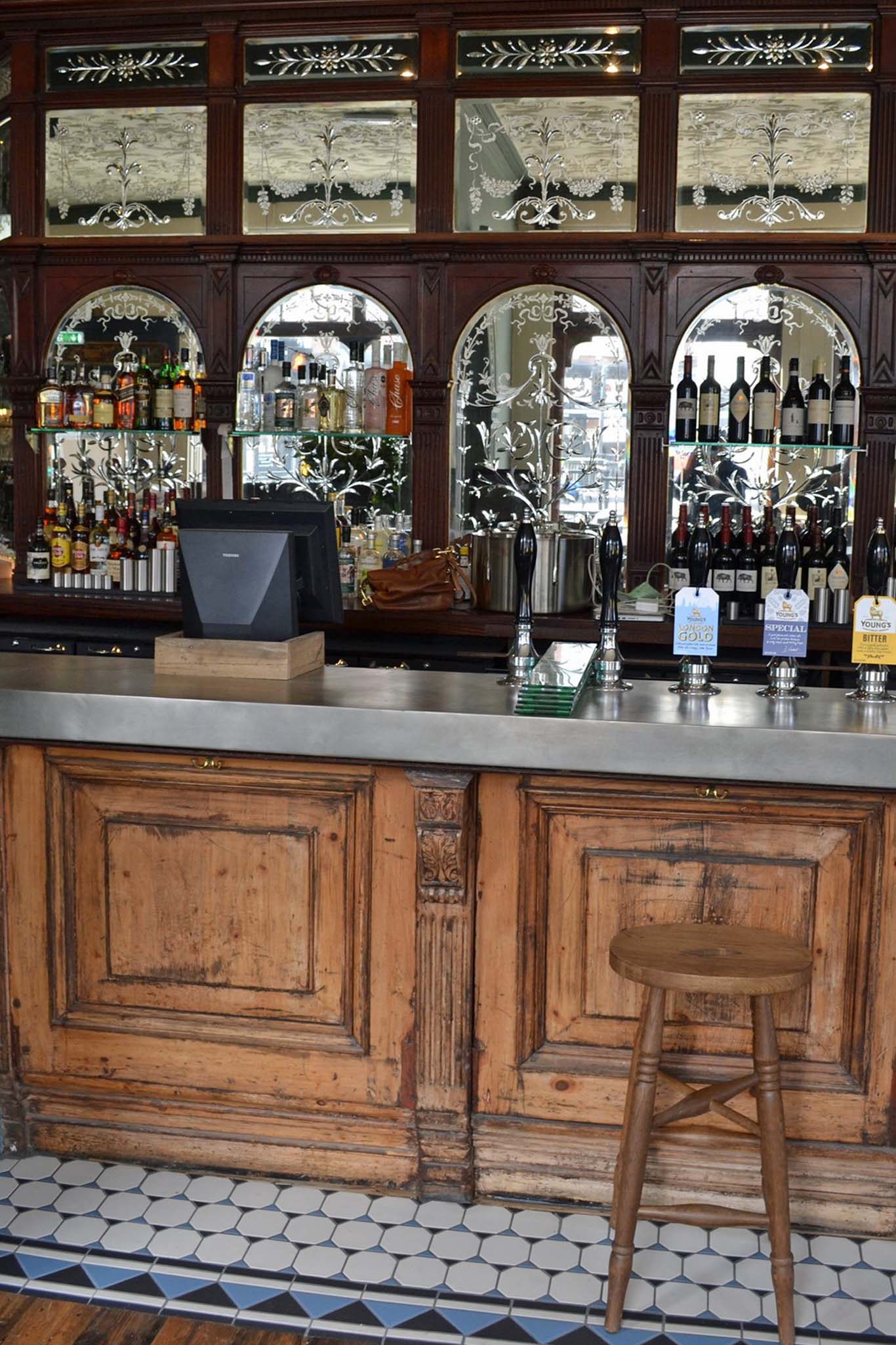 Boozer detail: the downstairs pub with original Victorian features restored. Photos: SE