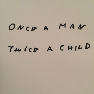 Once A Man Twice A Child. © Liam Gallagher