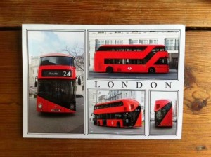 The postcards that were delivered to residents in July 2013 advertising the new-look 24 bus. Photo: SE
