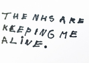 The NHS are keeping me a live. © Liam Gallagher