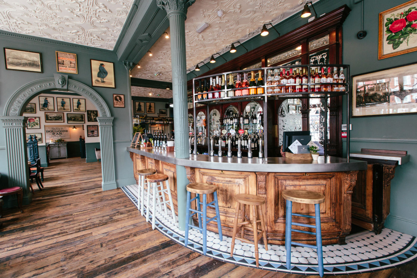 The main bar area as it is now after relaunching as a pub, restaurant and cocktail bar in April 2015. Photo: Young's
