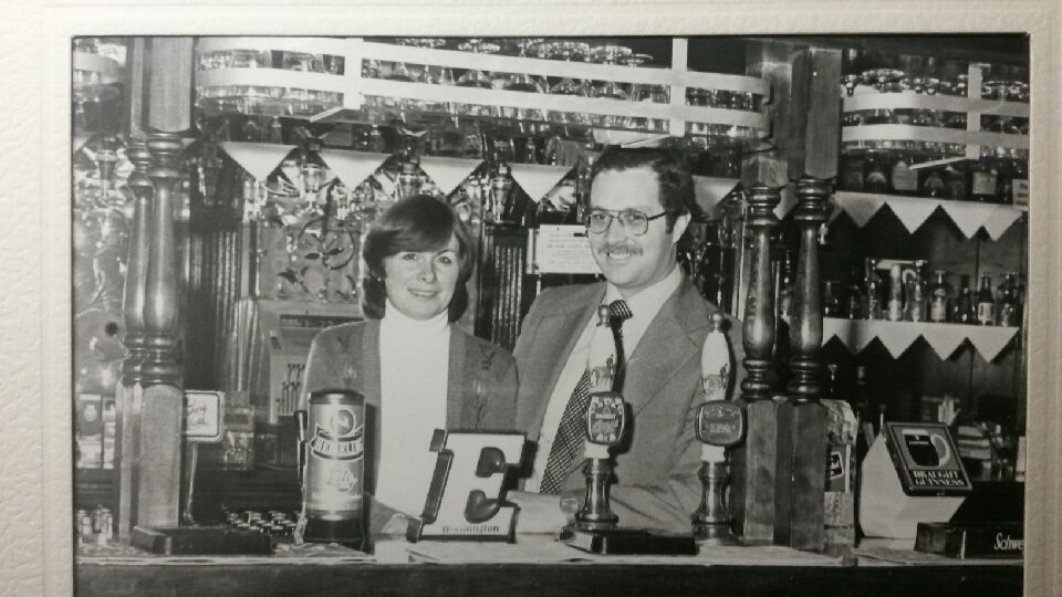 Pat and Margaret Lynskey the day they moved into the Bull & Gate in 1979. Photo: the Lynskey family