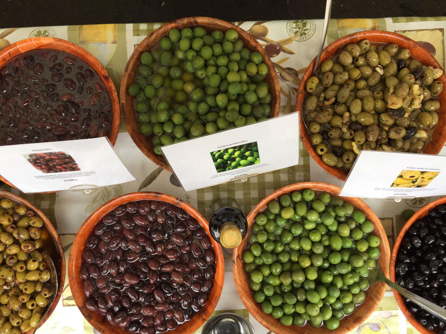 'Halkidiki are large, pale green olives from Greece with a full flavour.' Photo: SE