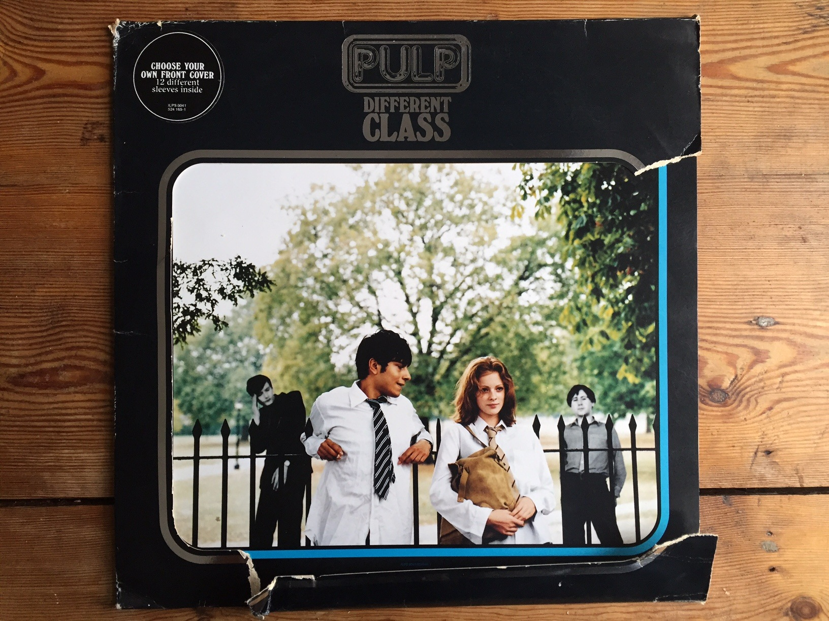 Editor Stephen Emms' original 1995 vinyl release of Different Class. Note how thoroughly worn it is. Photo: SE