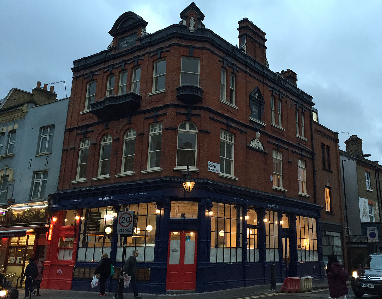 As night falls: the handsome scrubbed-up pub. Photo: SE