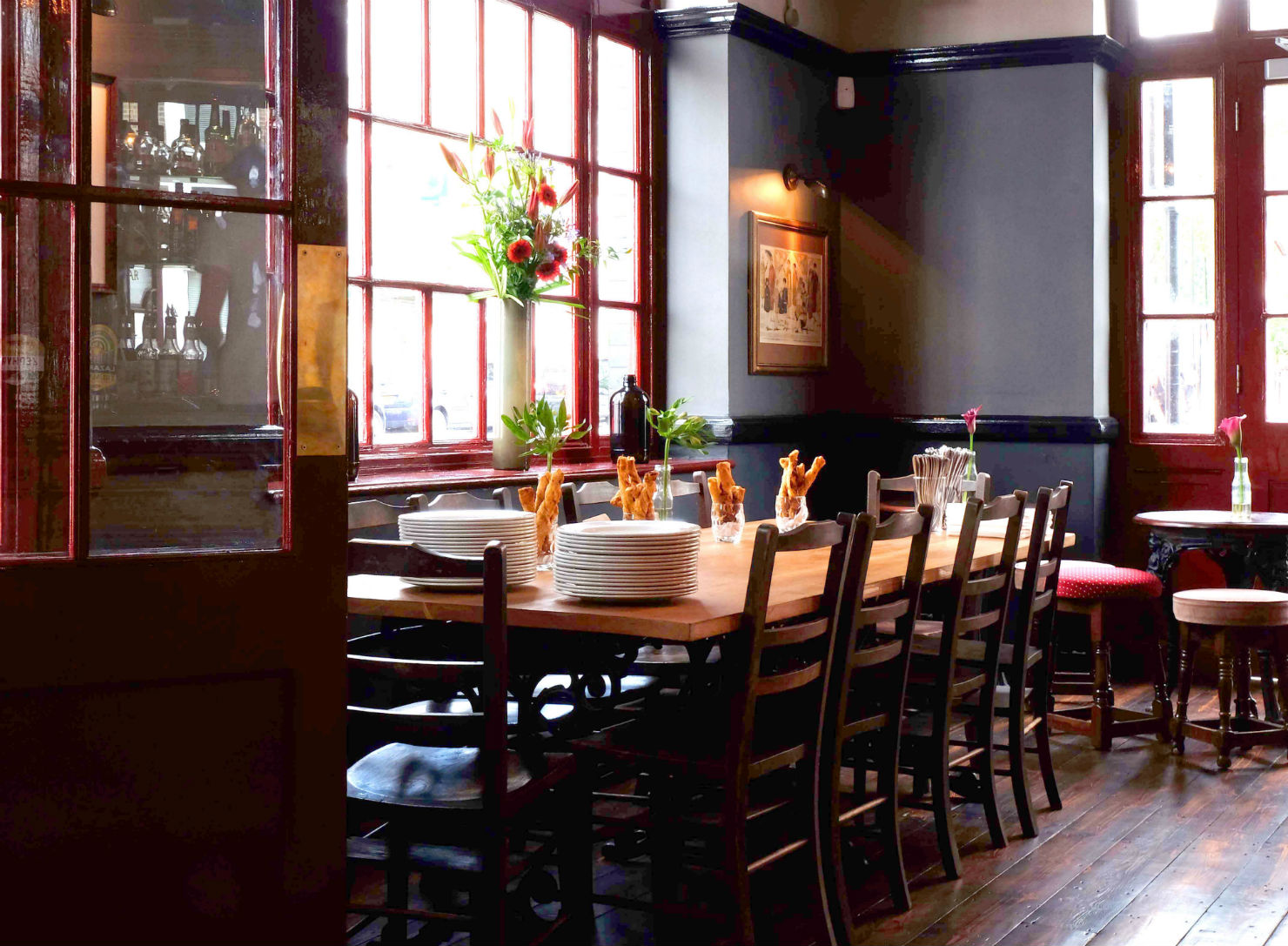 Catch the natural daylight: dining room at the Gipsy.