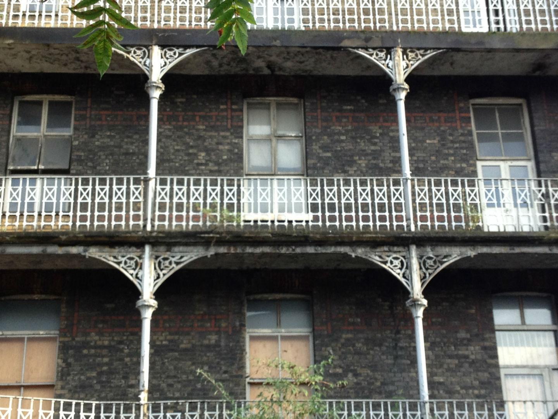 The run-down balconies. Photo: Georgia Grimond