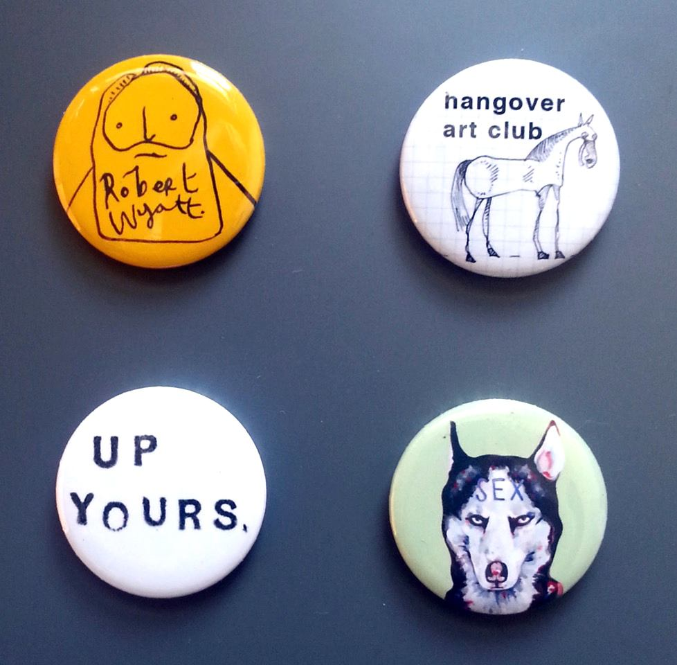 Maybe not for the kids: Sian Pattenden's badges.