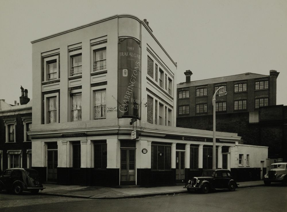 Trafalgar, 1960, 77 Castle Road, NW1. Now it's the award-winning Tapping The Admiral. Photo:  Charrington Brewery