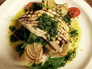 Excellent: Swordfish with roasted fennel. Photo: SE