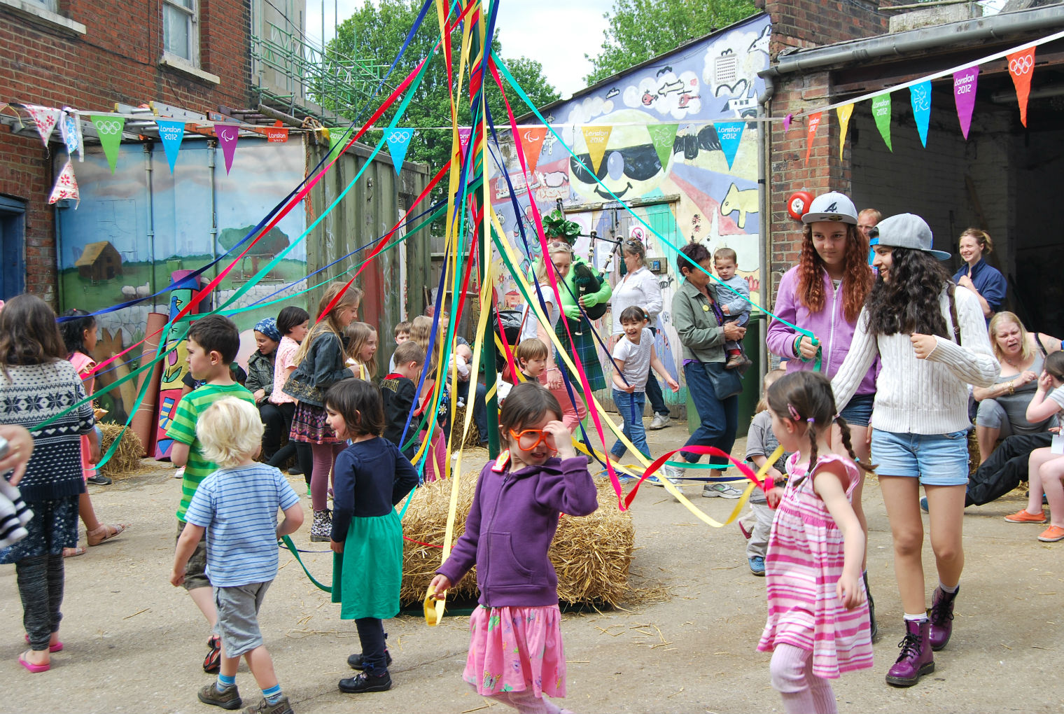 Cute: may pole dancing at last year's festival. Photo: KTCF