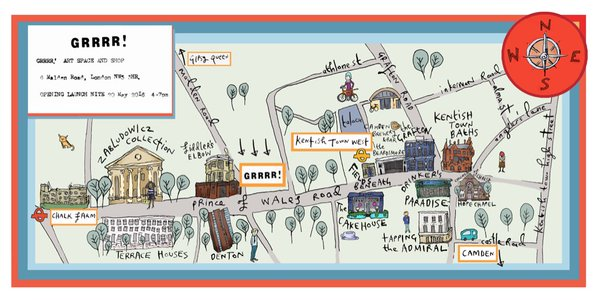 A local cultural map by Sian Pattenden. Photo: SP
