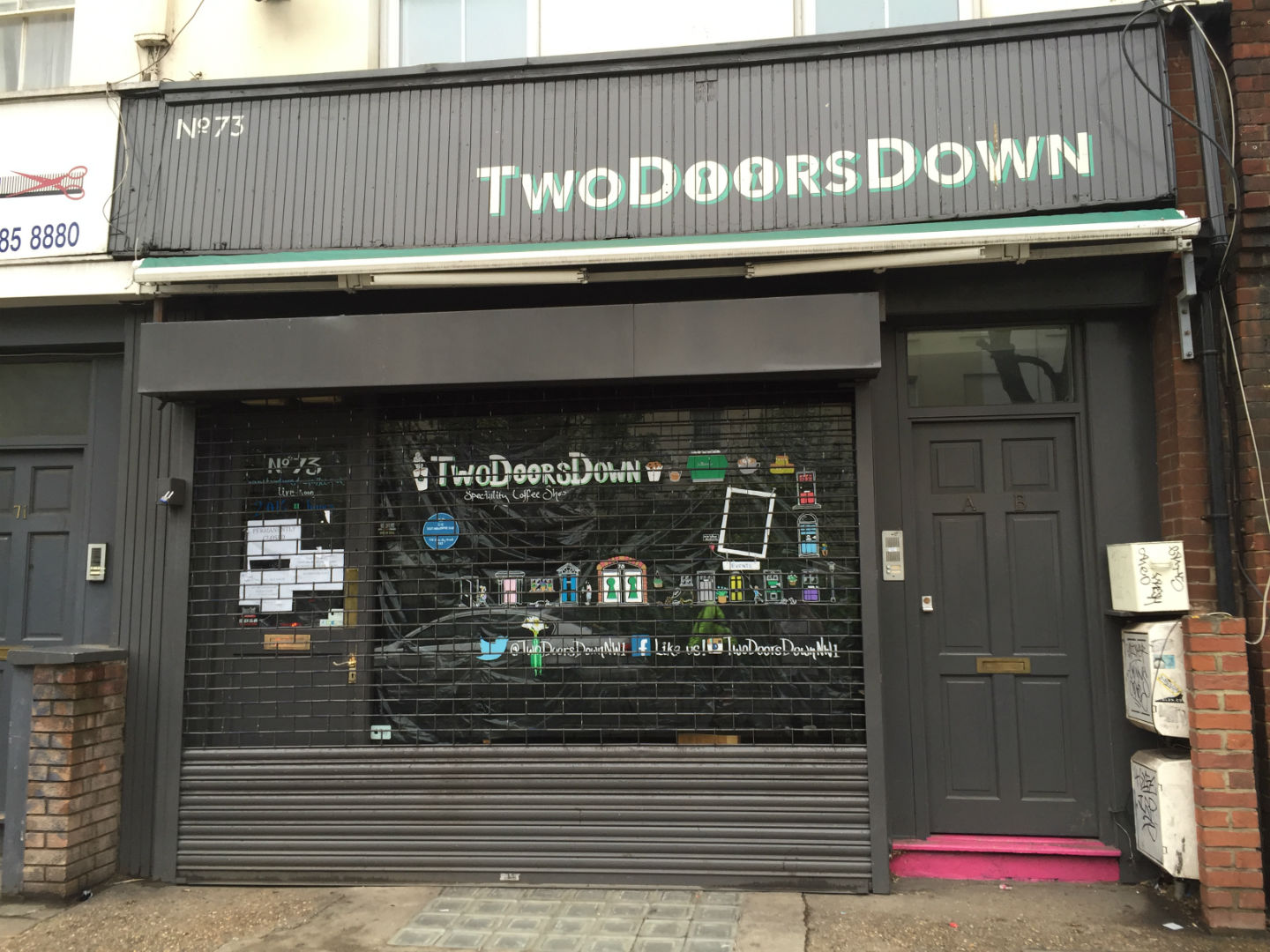 Closed down permanently: Two Doors Down