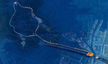 The 'Night Sky' route from a new public square in KT, up to Kenwood