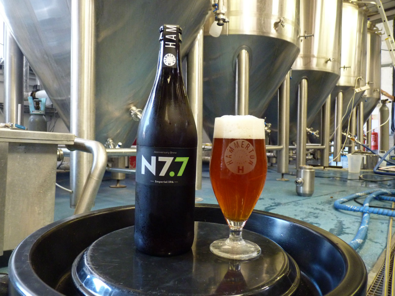 Two years old: time to celebrate with a 7.7% ABV. Photo: HB