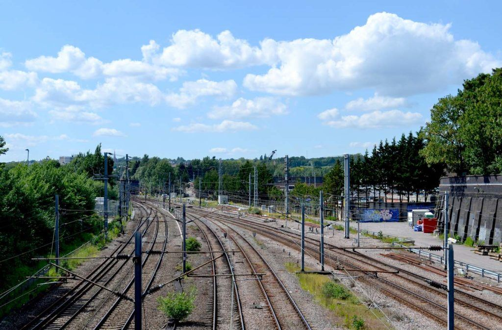 The Midland Mainline route, from Kentish Town Rd. Photo: AY Architects