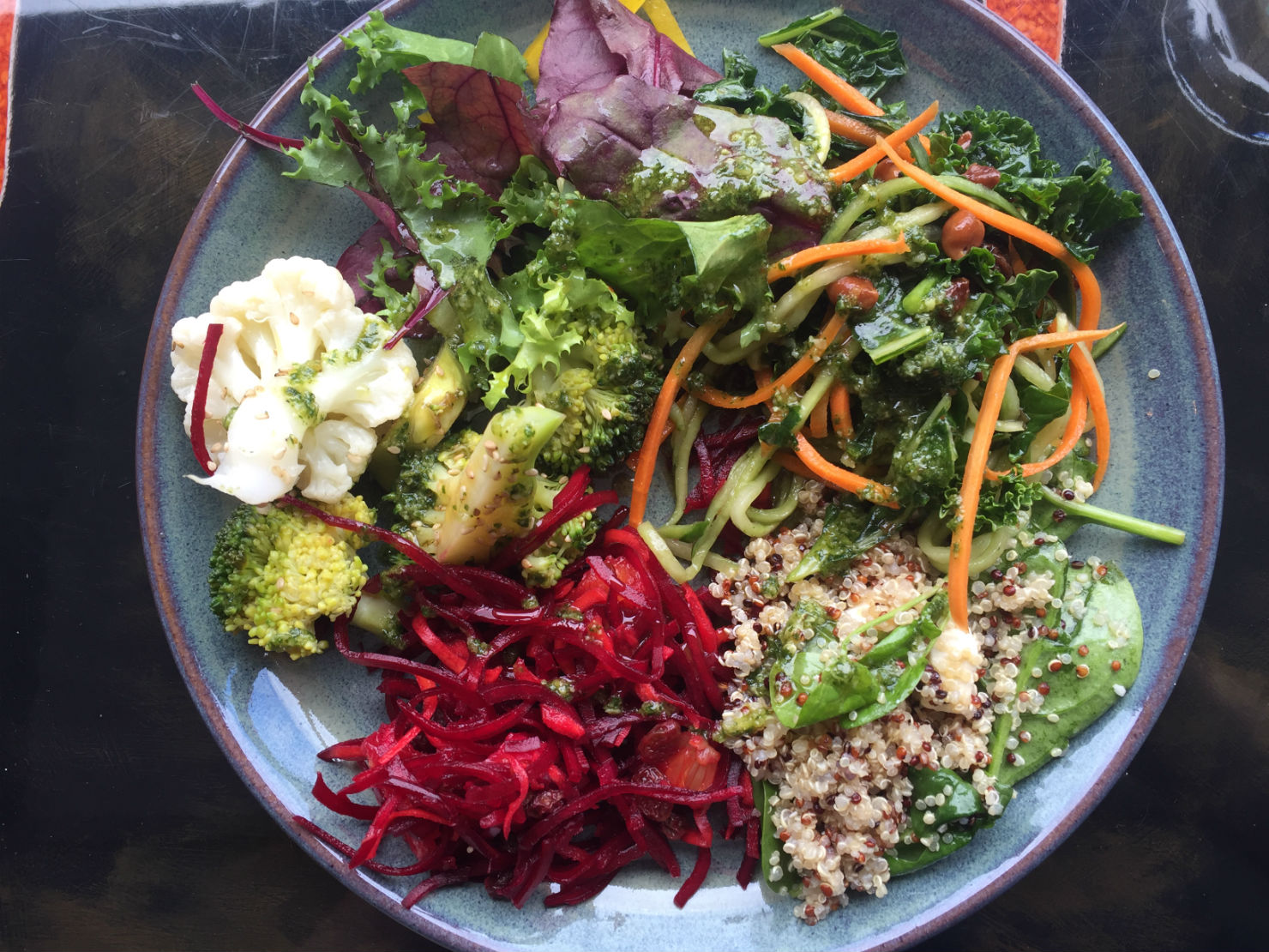 Mixed plate of colourful salads for £4.95