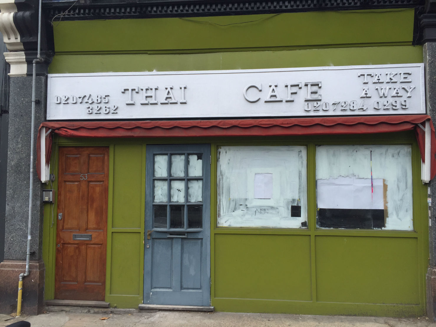 The long-shut Thai Cafe is to be reborn nice and (still) green. Photo: SE