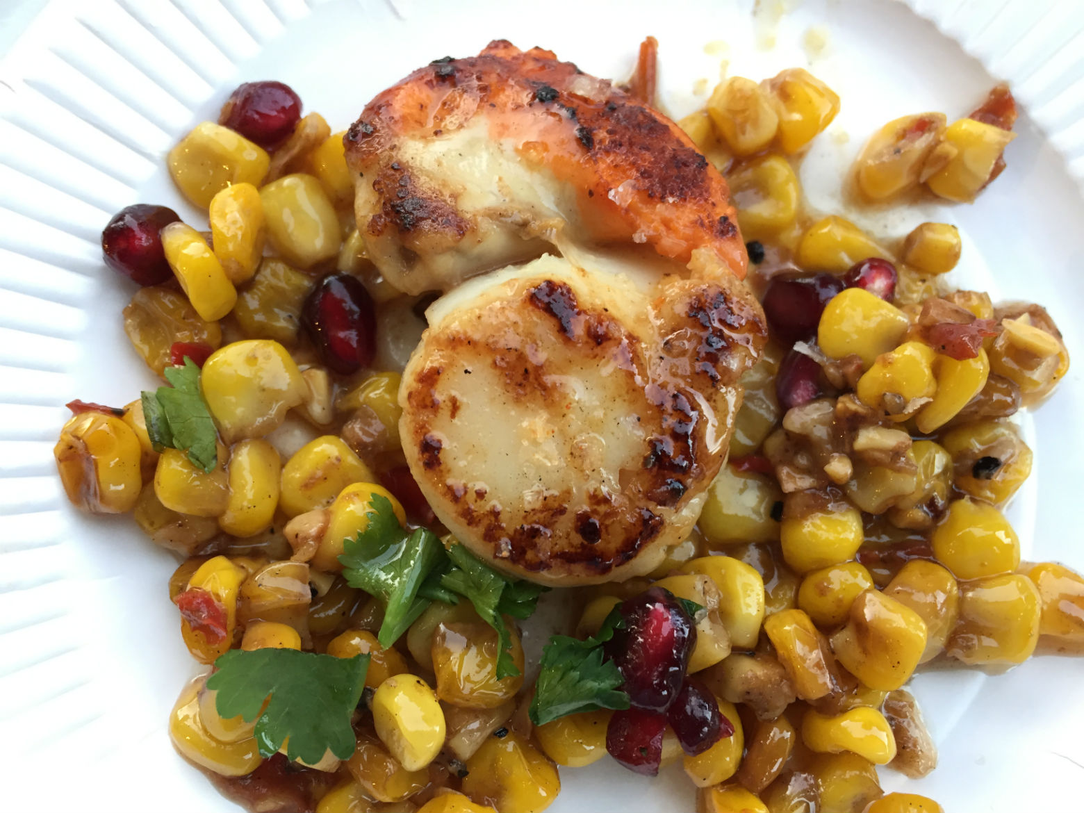 Scallop and sweetcorn from Crabbieshack. Photo: SE