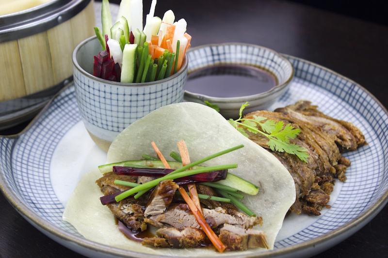 A great version of the classic aromatic duck pancakes