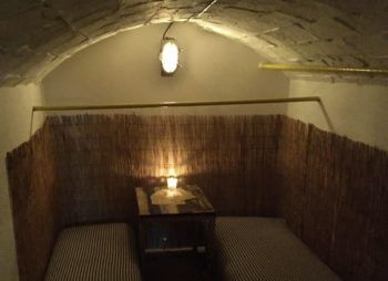 One of the candle-lit 'cells'. Photo: SE