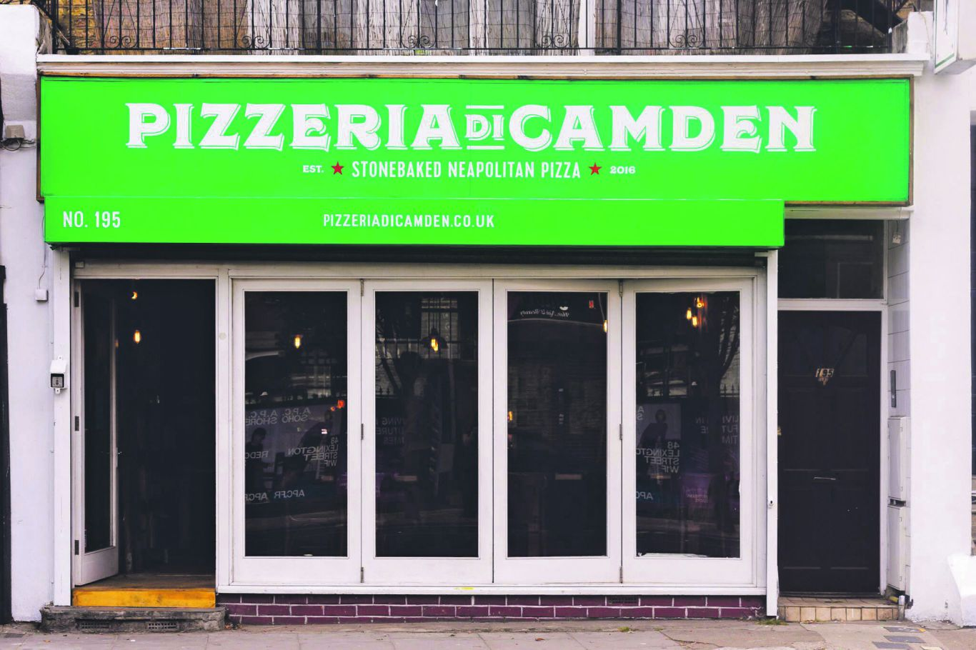 Great signage. Photo: Pizzeria Di Camden (PDC)