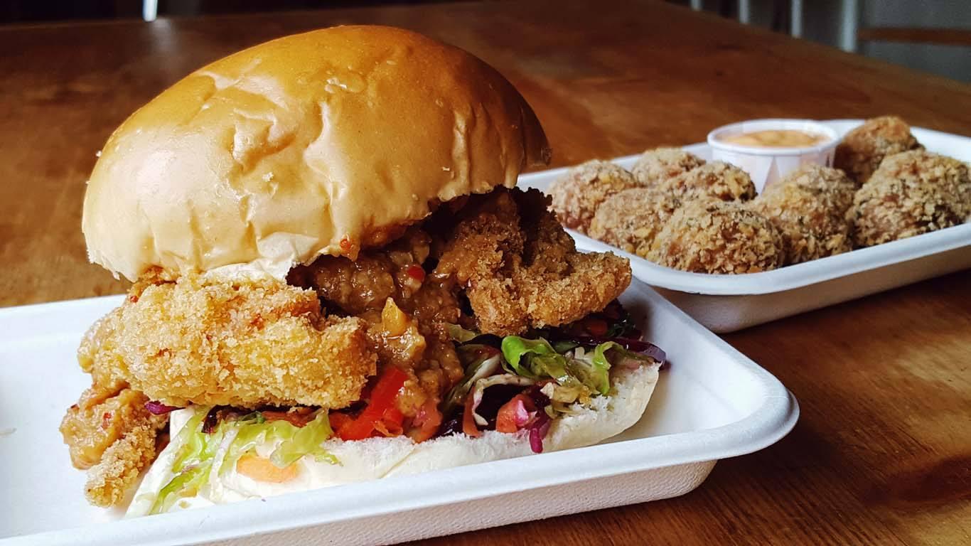 Softshell chilli crab burger at Lion City Kitchen: Photo PR