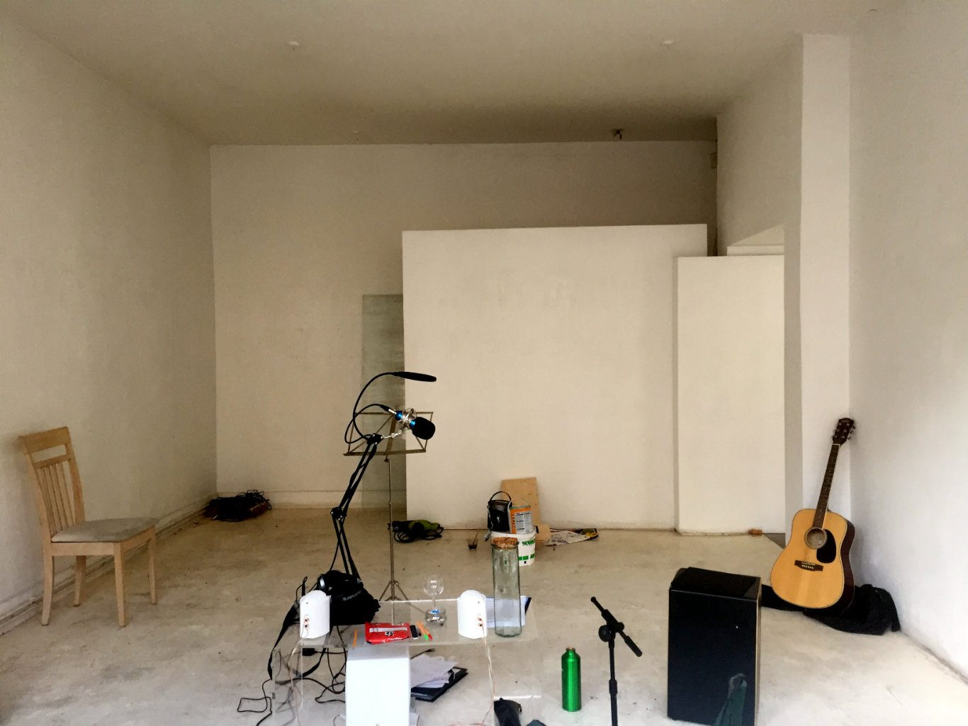 The former gallery is being squatted by musicians and artists. Photo: LBTM