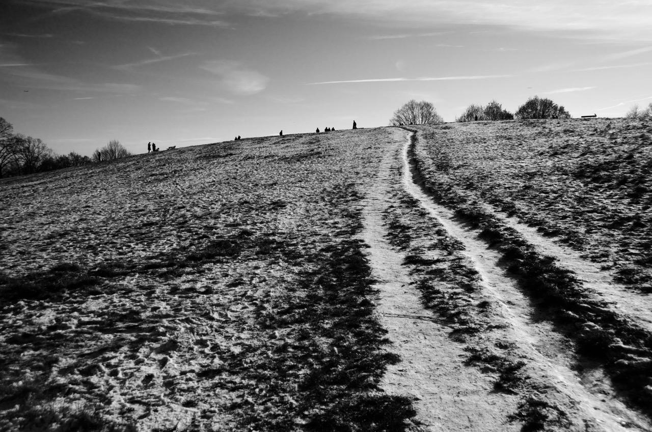 Running up that hill. Photo: Dan Hall