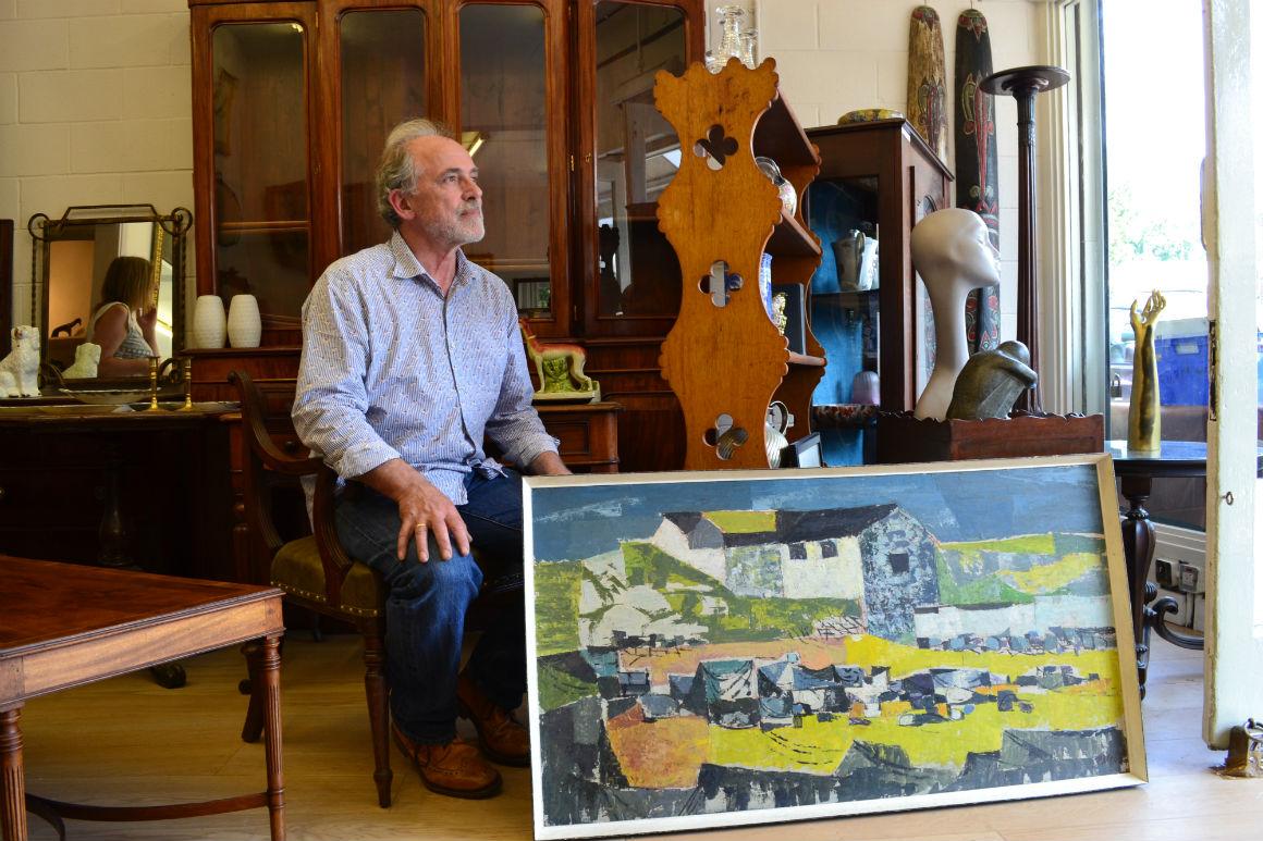 Matt Townsend in his antiques shop. '