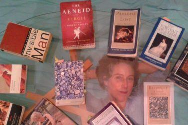 An array of books at the London Literary Salon