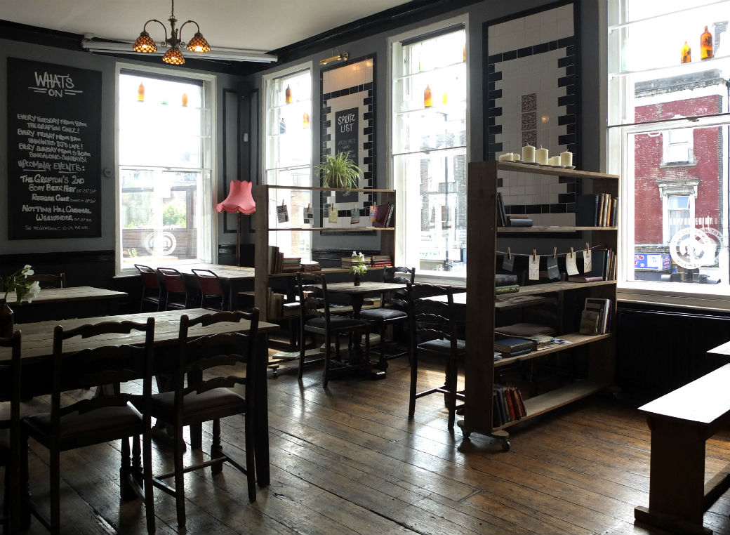 The Grafton's upstairs dining room and bar is where the markets take place. Photo: Grafton