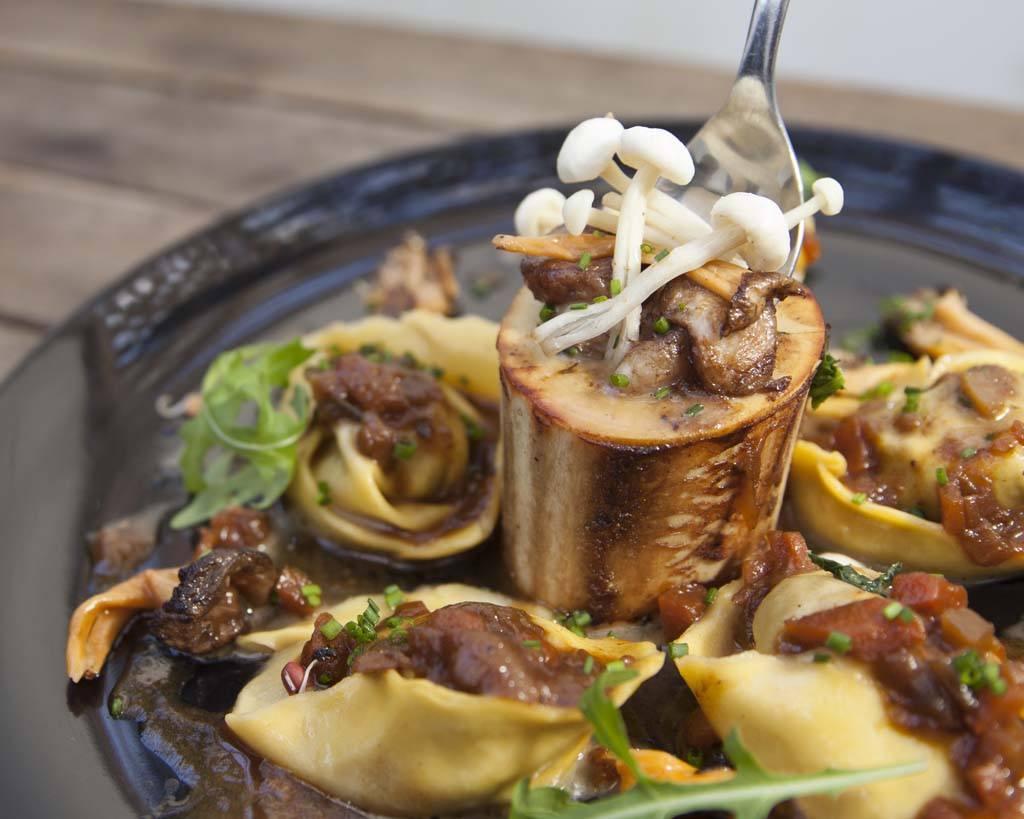 mushrooms and pasta at Anima E Cuore