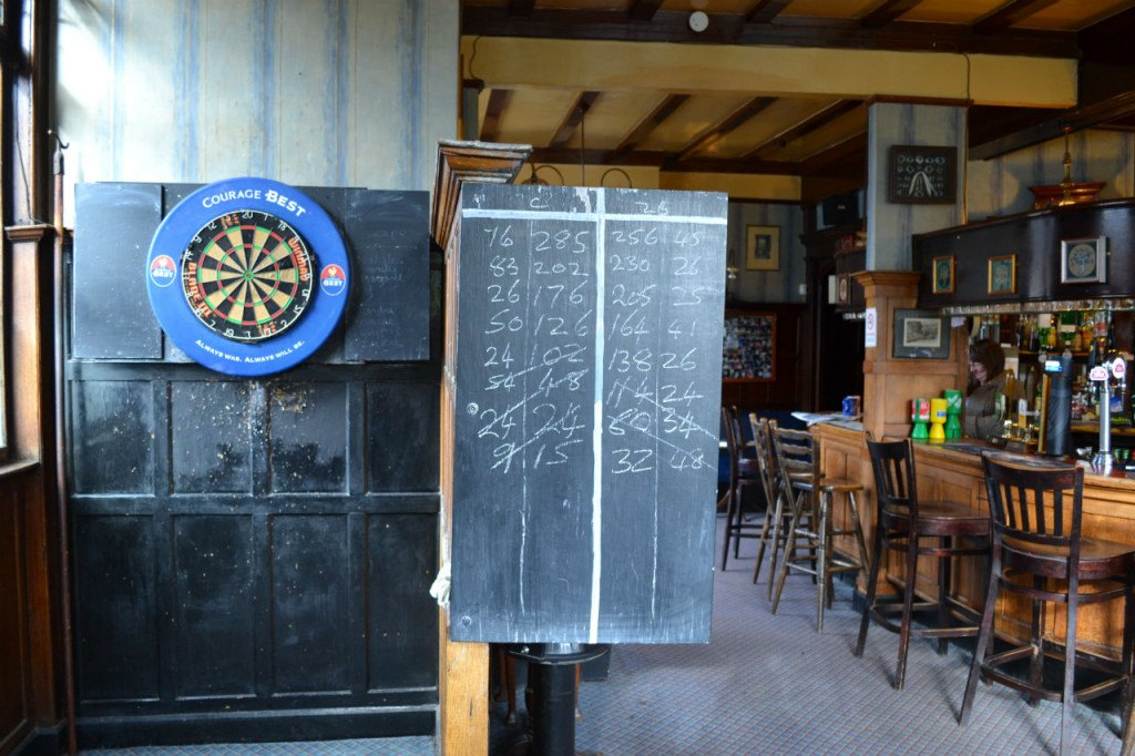 A well-used dartboard at the Lord Southampton. All photos: Stephen Emms/ LBTM ltd