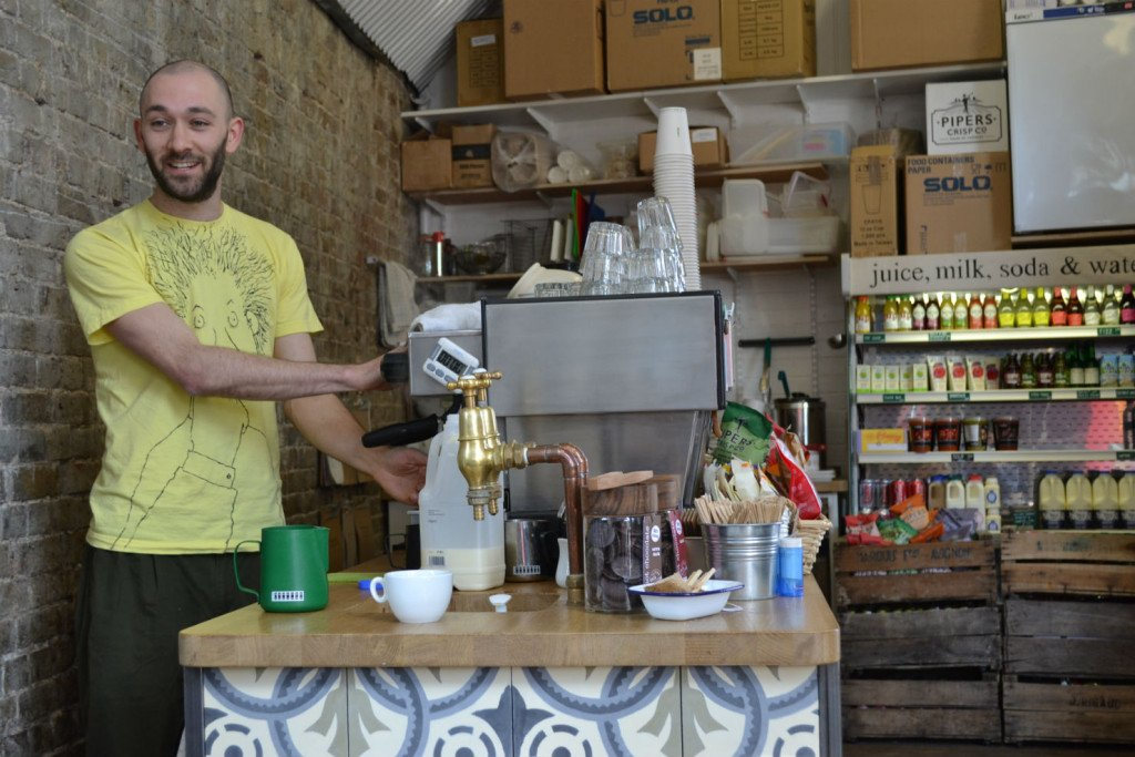 Gavin Fernback: 'We want our bags with our own labels, and we want local businesses brewing and selling our coffee.' Photo: SE