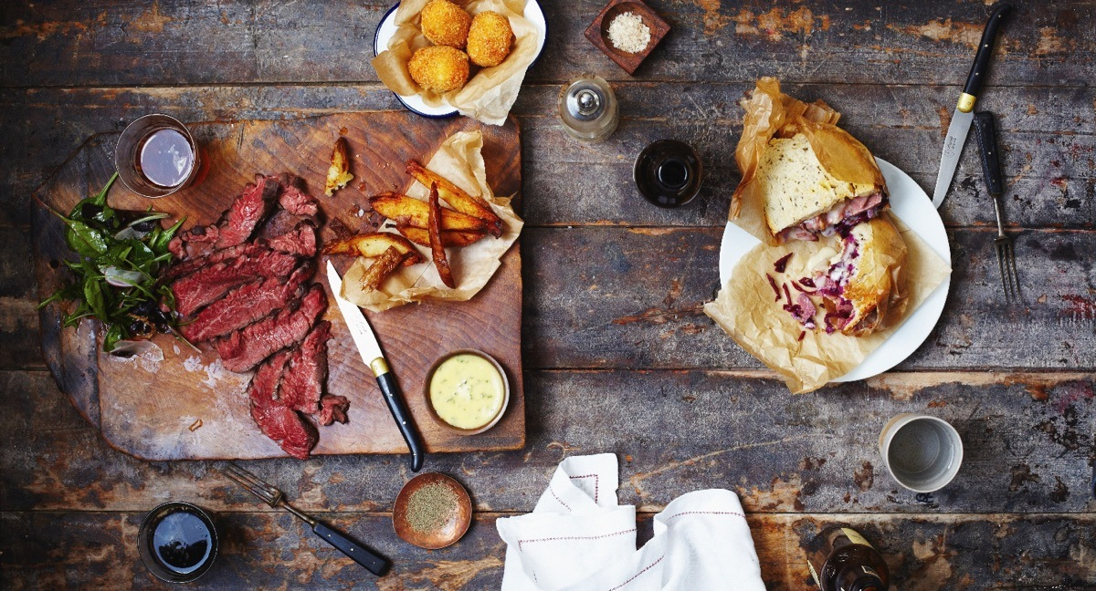The full spread at Beef & Brew. Pic: B&B
