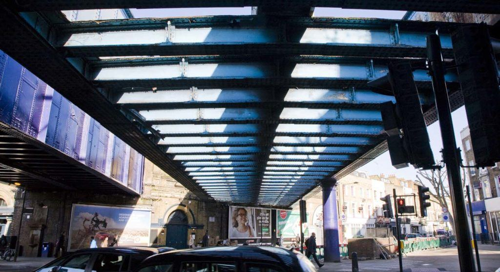 Abandoned railways bridge across Royal College Street and Camden Road. All High Line photos: Andy Stewart