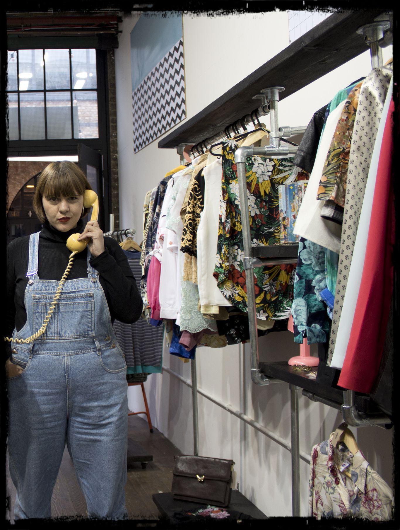 Chloe in her Camden Market store. Photo: Power Dressing