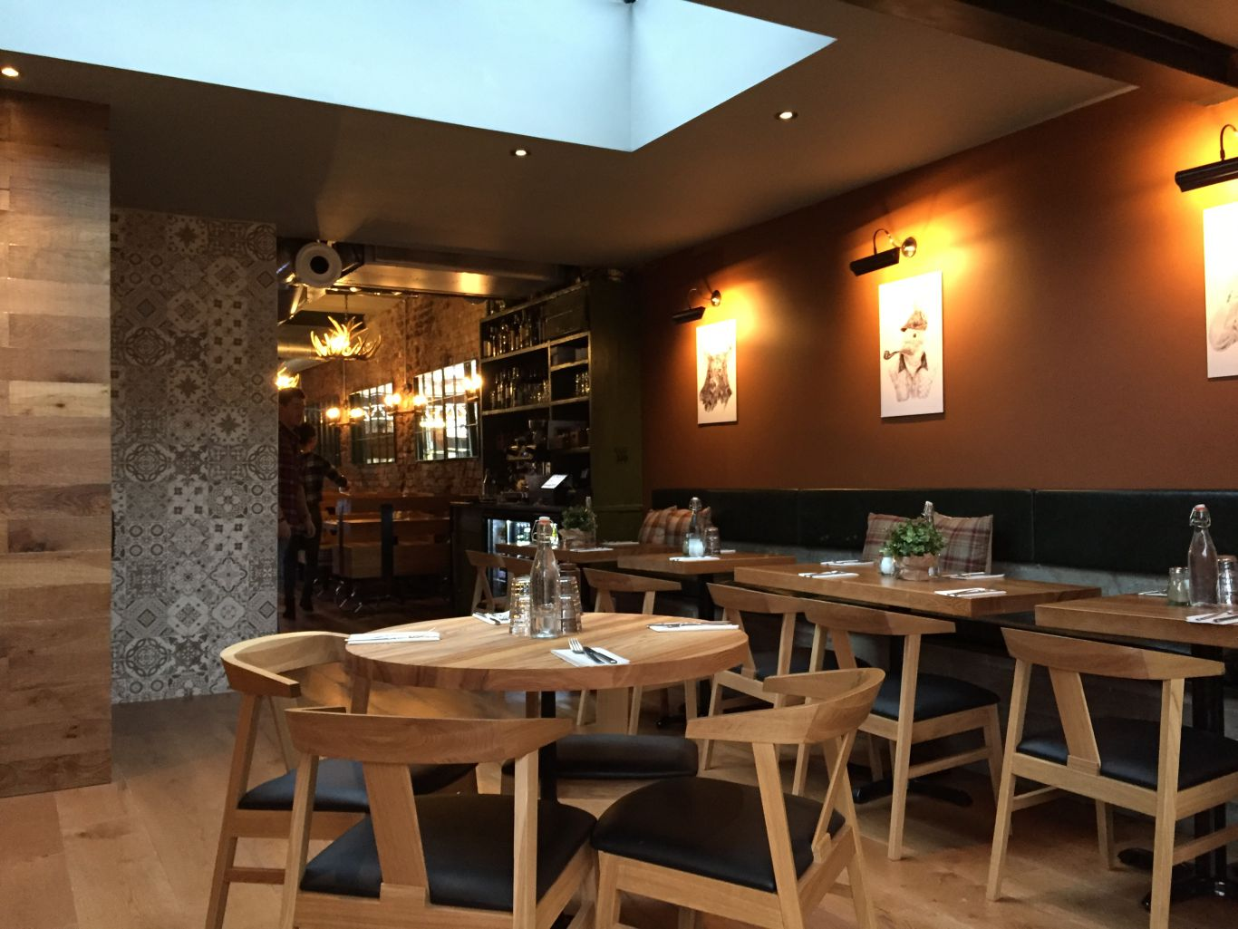 Scandi: the airy back dining room at Lazy Hunter. Photo: PR
