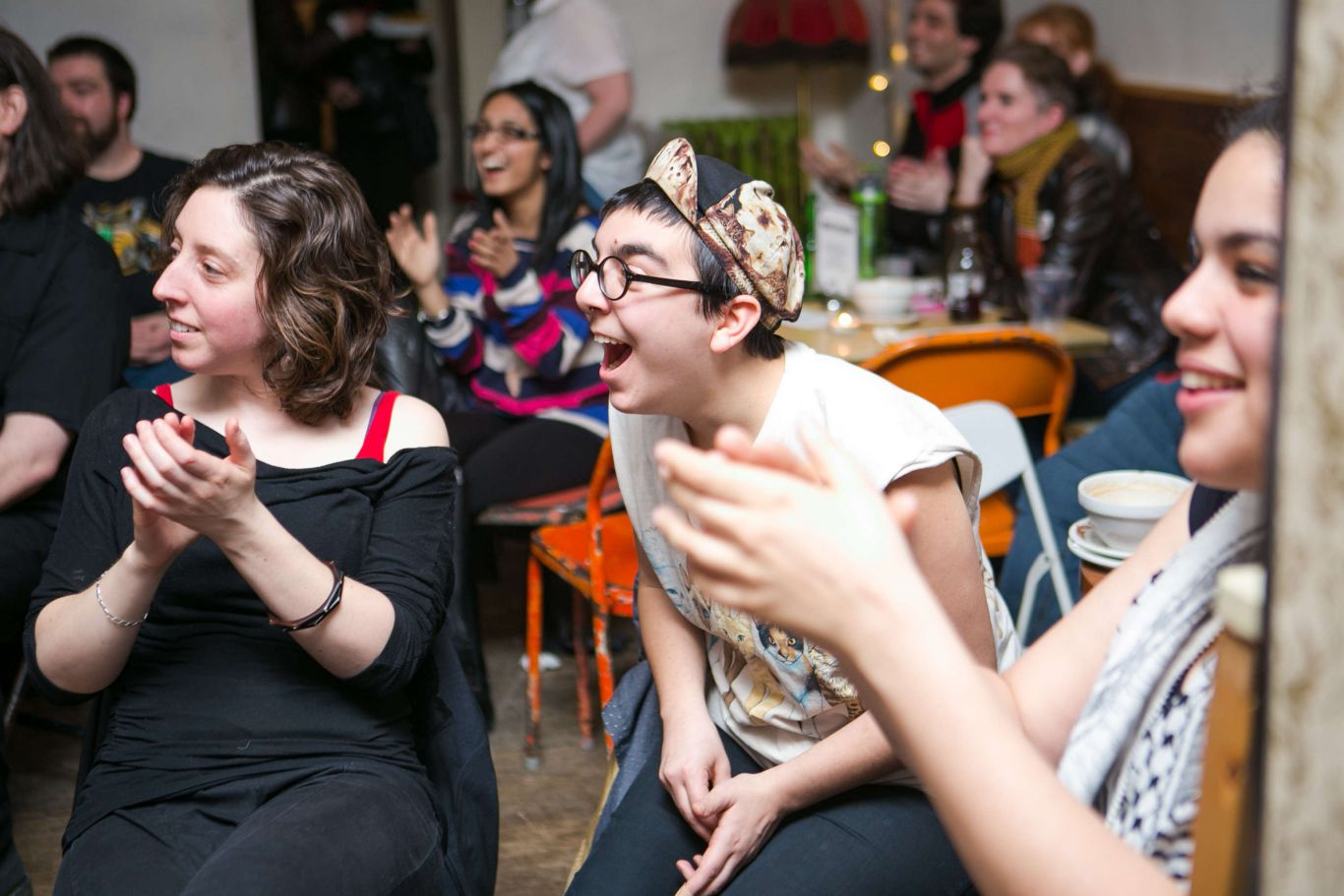 Guffaws of laughter at a previous Slam. Photo: PR