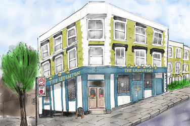 Illustration of The Leighton pub